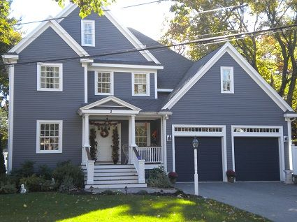 Outside House Paint Colors Exterior Gray White
