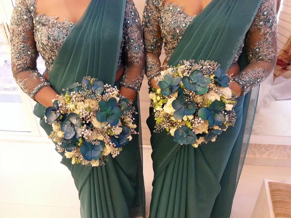 Sri lankan bridesmaids sri lankan weddings pinterest for Wedding party dresses in sri lanka