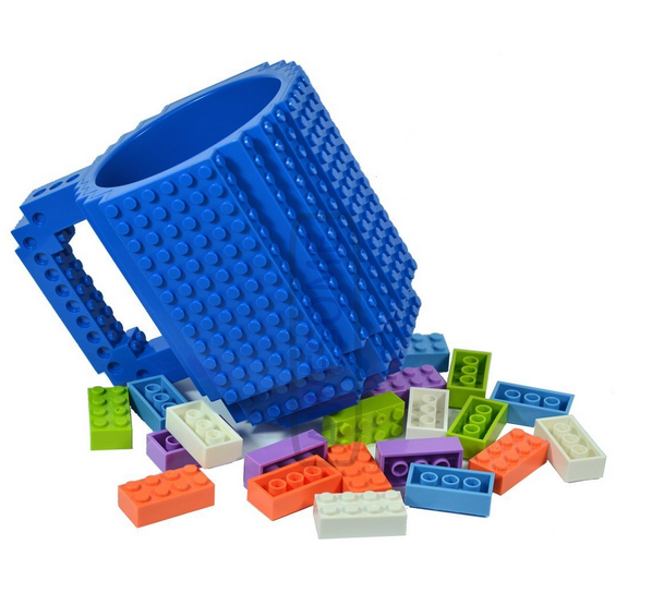 AWESOME Building Brick Mug Blue by Awesome Baukästen & Konstruktionsspielzeug