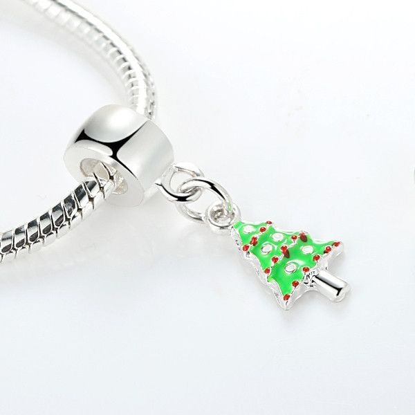 475fa3891 Silver Plated Jingling Bell,Cane,Christmas Tree,Stocking Pendant Charm Fit  Pandora Bracelet Necklace Authentic Accessories