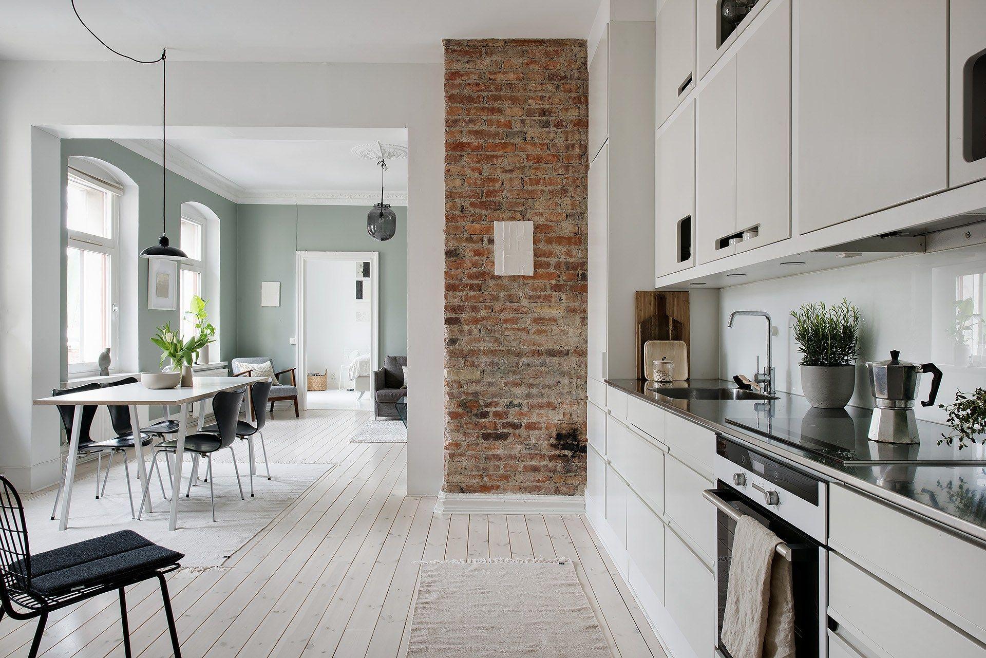 fresh home in green kitchen interior green apartment brick interior on kitchen interior green id=99314