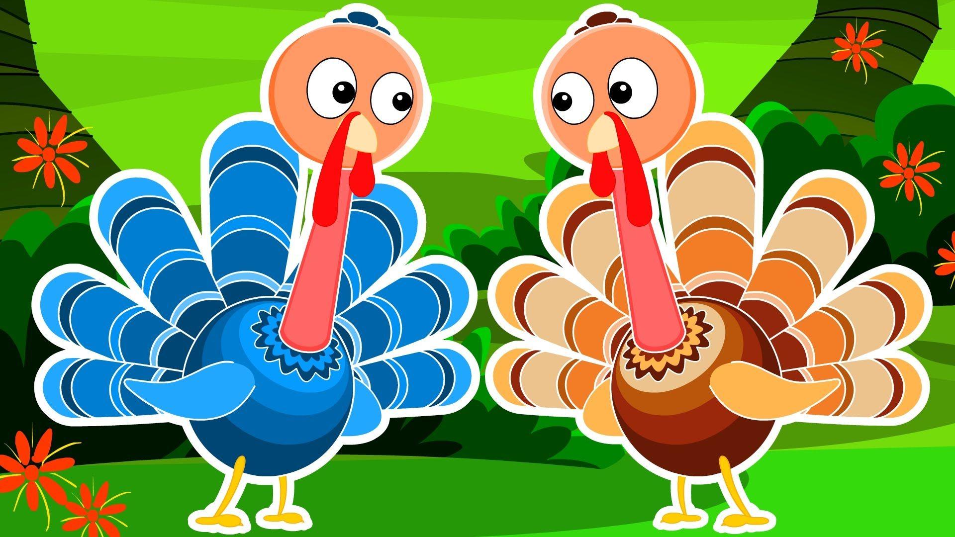 Five Little Turkeys | Turkey Song | Happy Thanks Giving | Happy ...