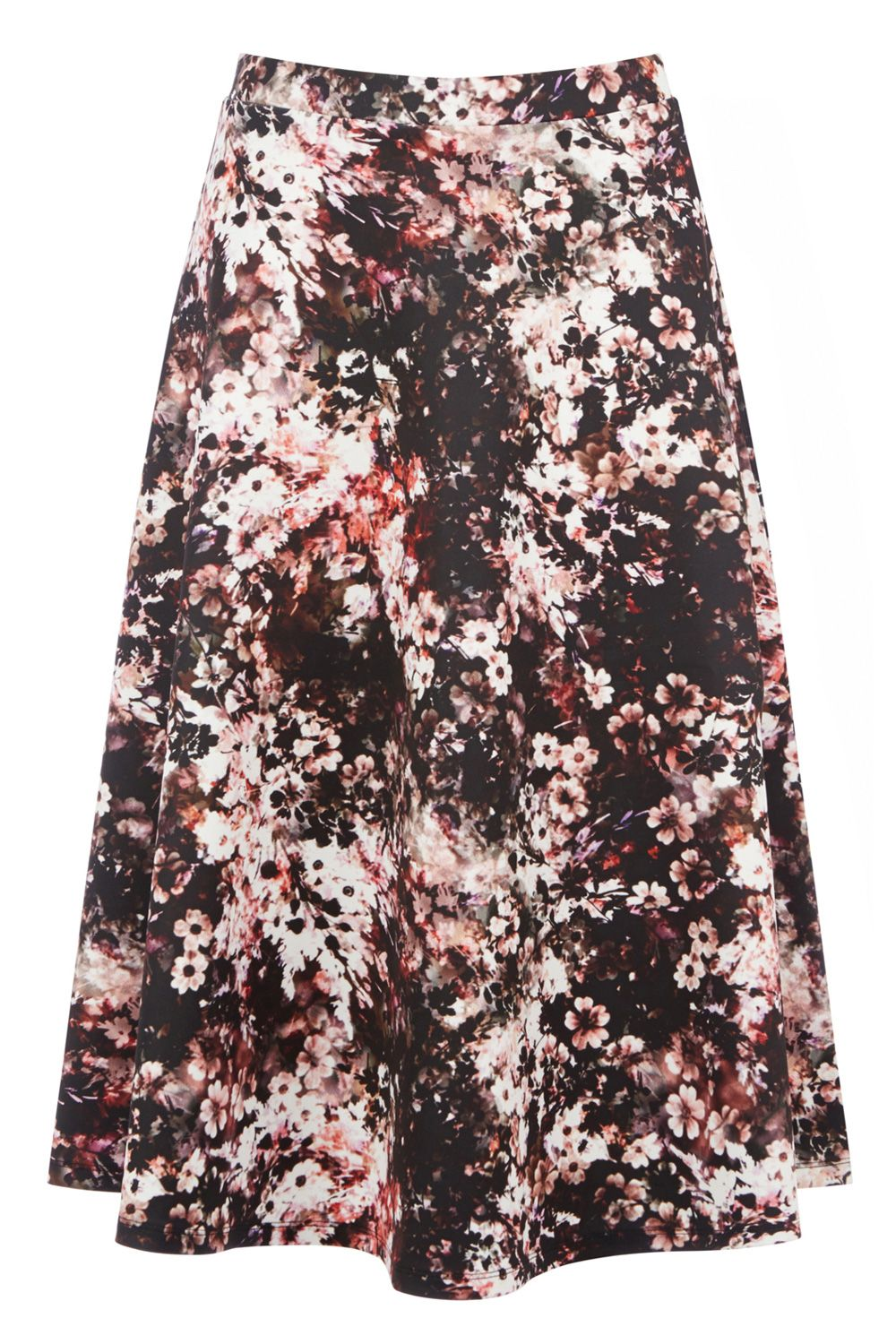 Clothing | Other DARK FLORAL PRINT FULL MIDI SK | Warehouse