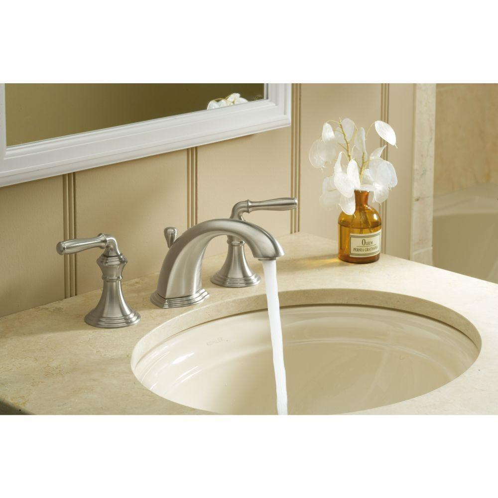 Kohler K 394 4 Bn Devonshire Vibrant Brushed Nickel Two Handle Widespread Bathroom Faucets Efaucets