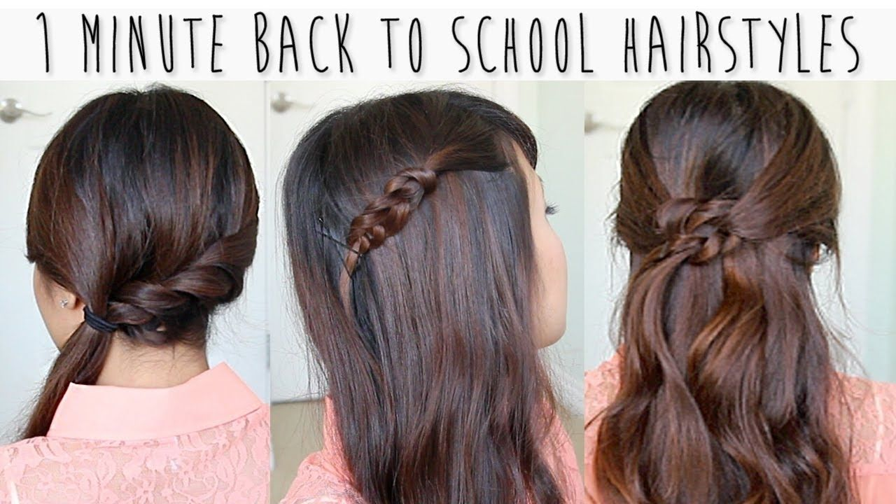 Cool hairstyle for girls with medium hair for school hair