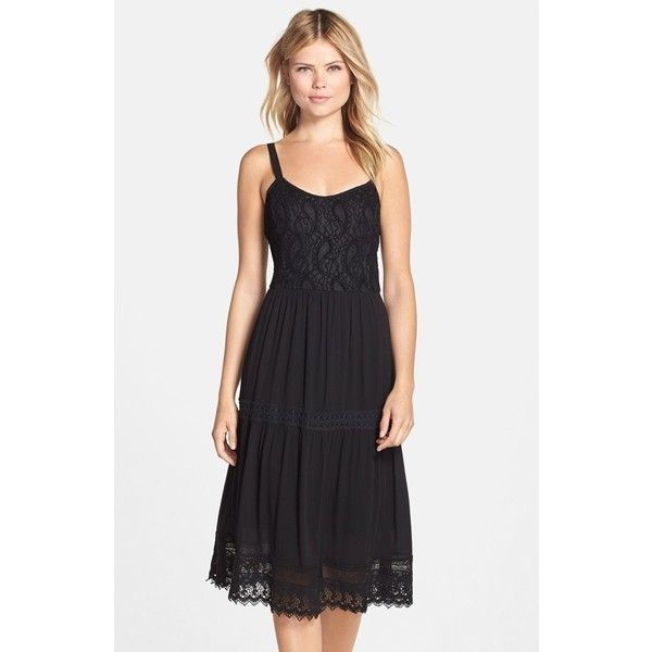 Kut From The Kloth Lace Fit Flare Midi Dress 128 Liked On