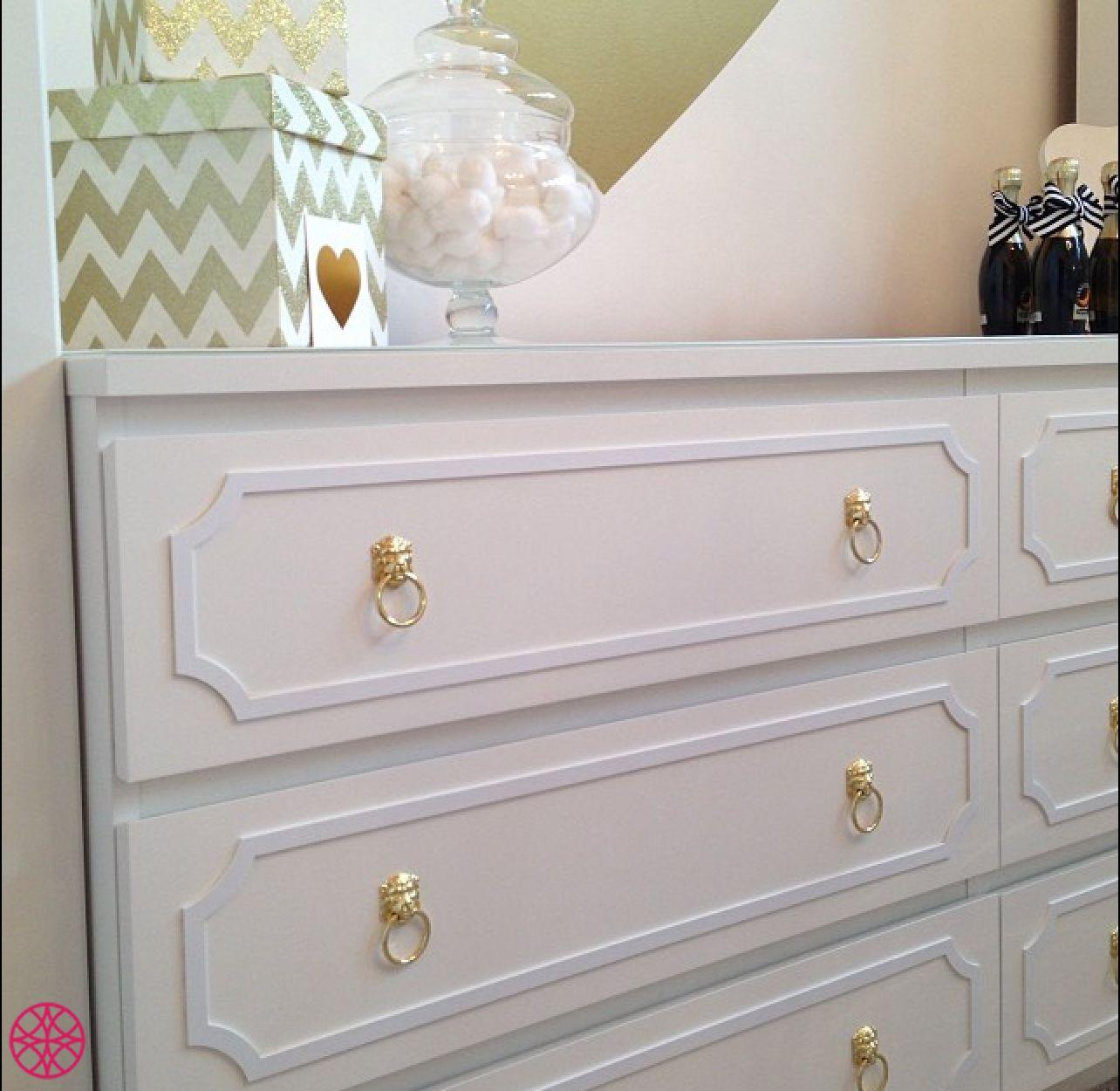 Anne 1″ reveal Kit for Ikea Malm 6 drawer long dresser