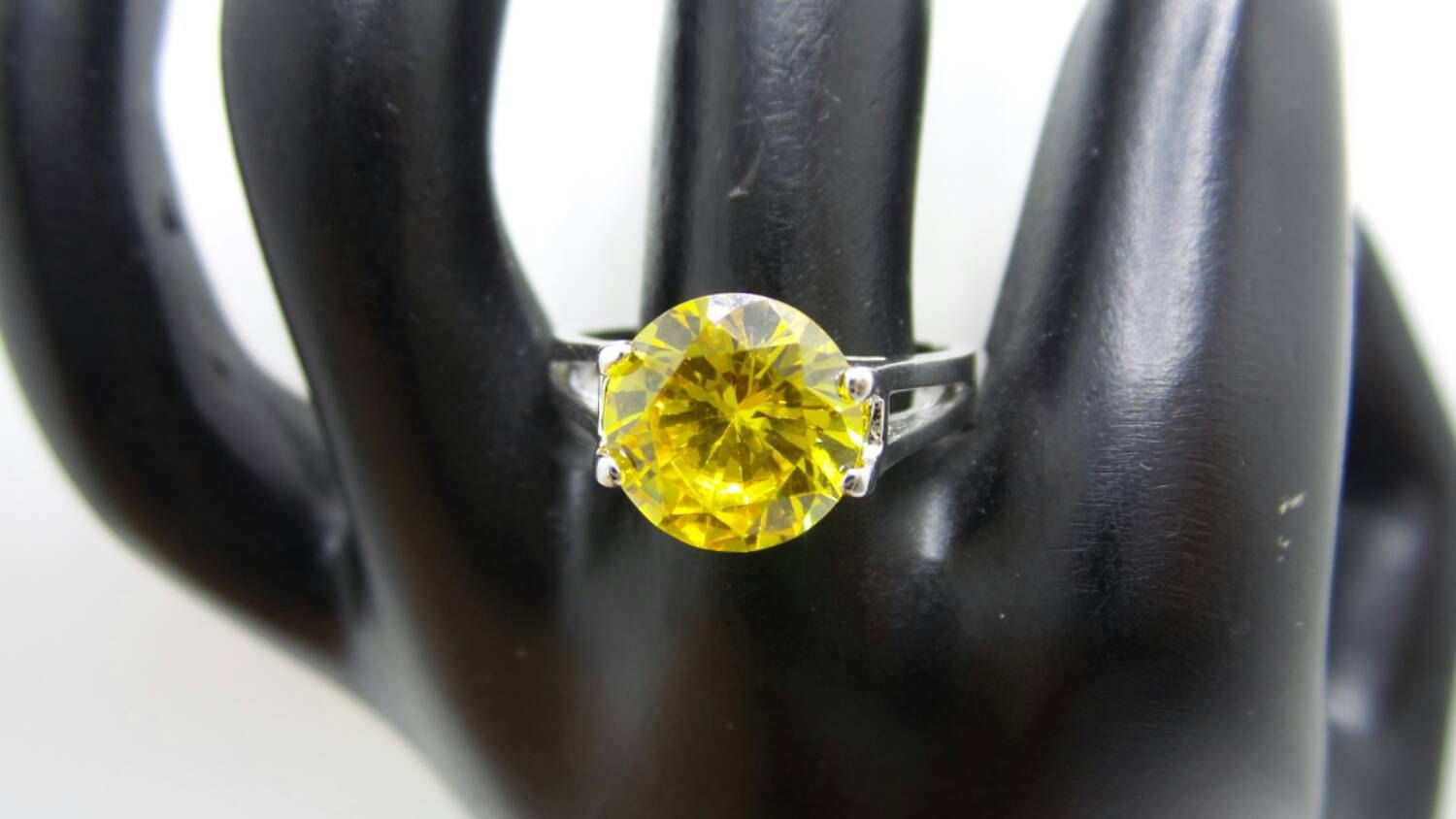 Citrine Sterling Silver ring, size 8.75 by FierStaarGems on Etsy