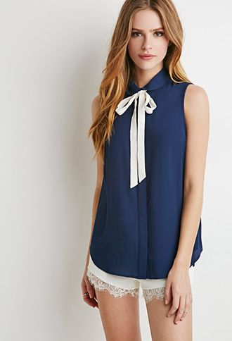 Peter Pan Collar Bow Blouse Forever 21 2000077149 I Got My Red