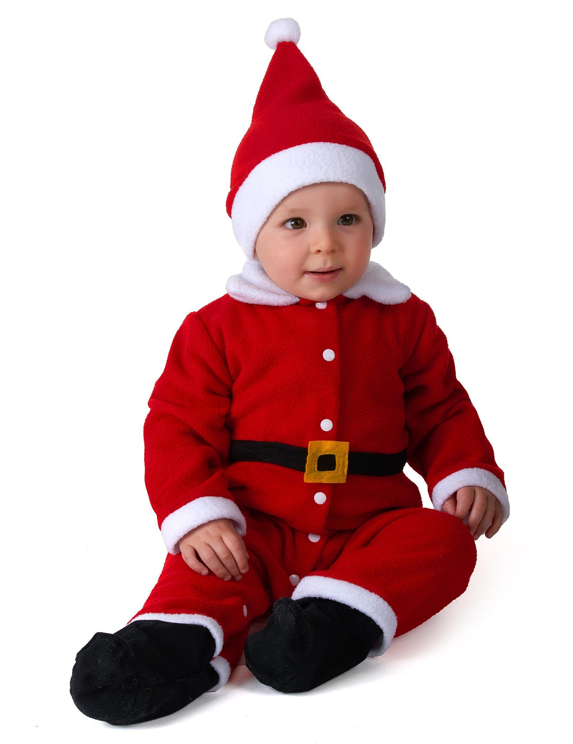 Foto Di Natale Neonati.Costume Tuta Babbo Natale Per Neonato Bambini E Bambole