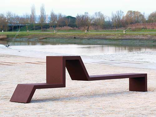 mobilier urbain banc eudald iii cr ation originale cyria outdoors pinterest urban. Black Bedroom Furniture Sets. Home Design Ideas