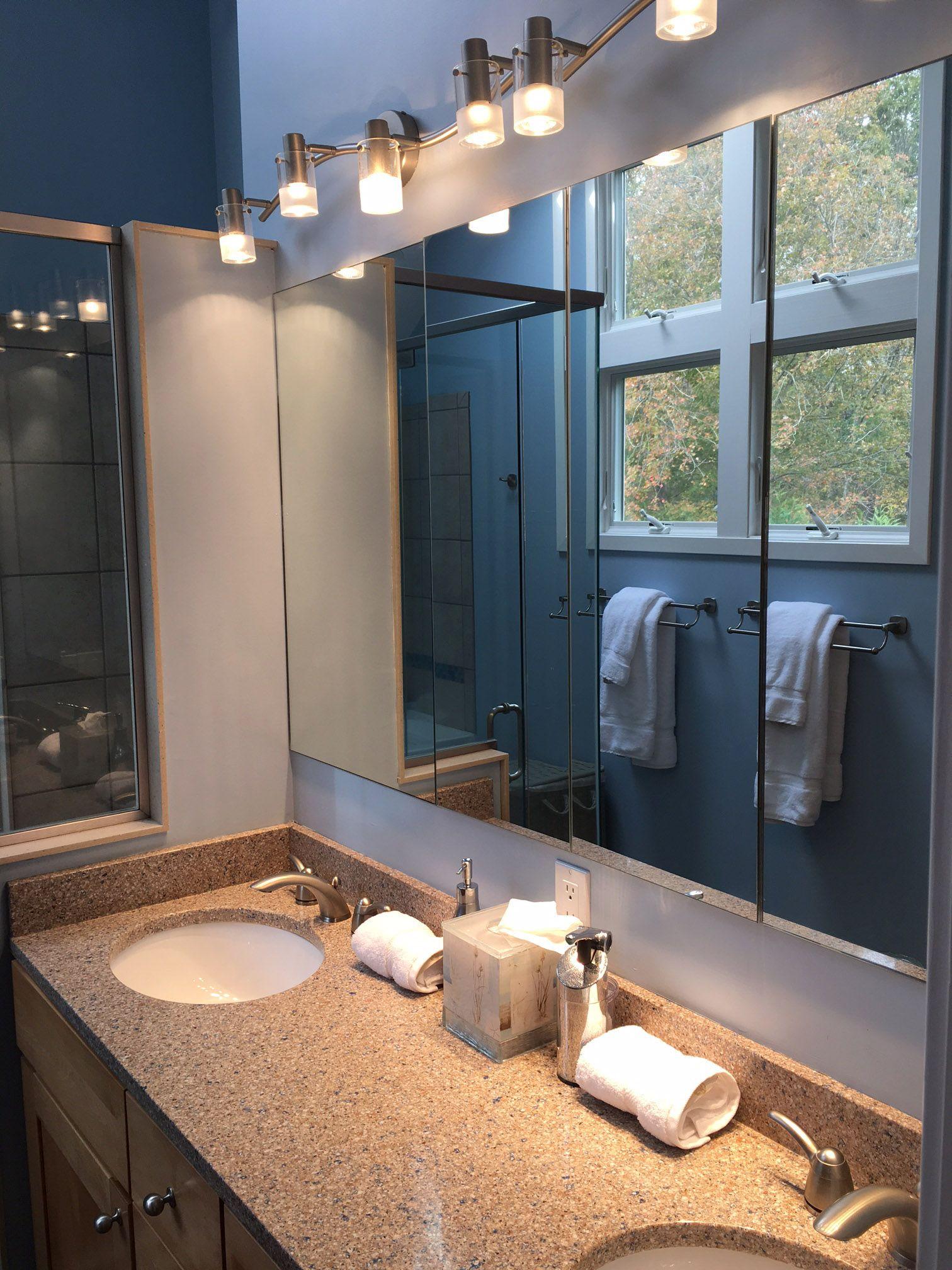 Master Bathroom Vanity Lighting Double Design