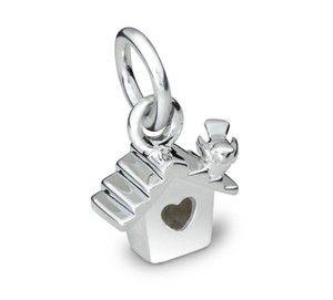 Silver Bird Box Charm