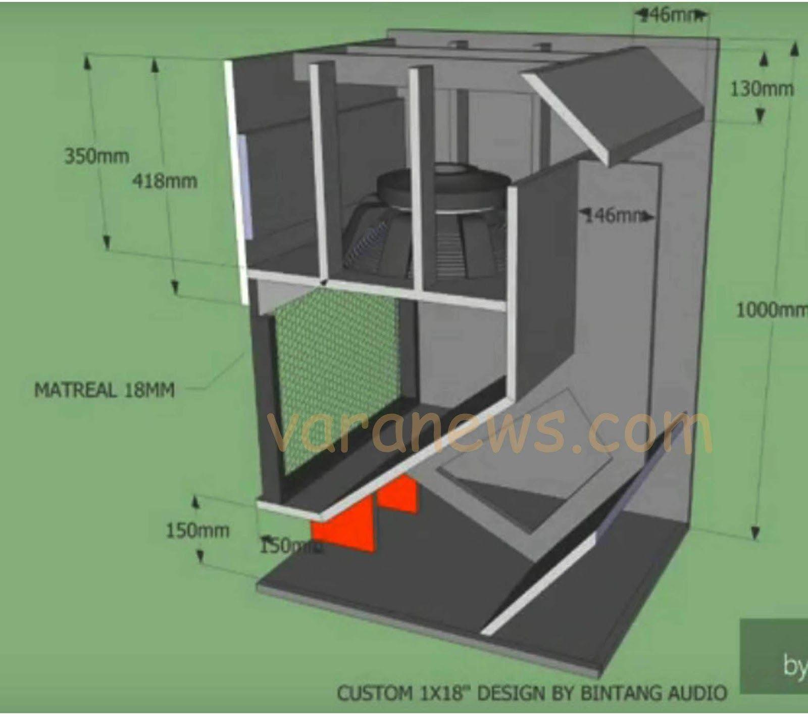 Skema Box Speaker Custom Dynacord 18 Inch Rangkaian Elektronik Speaker Pengeras Suara