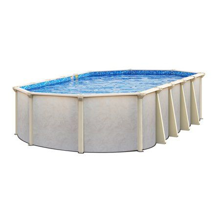 Embassy Pools Grand Haven 18 Ft X 34 Ft Oval Above Ground Pool