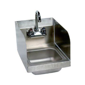 Wall Mount · Stainless Steel Hand Sink With Side Splash U2013 NSF U2013 Commercial  Equipment 10u2033 X 14