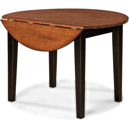 Imagio Home Drop Leaf Arlington Dining Table Black And Java Walmart Com Dining Table Black Drop Leaf Dining Table Drop Leaf Table