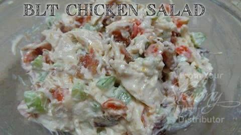BLT Chicken Salad LOW-CARB! Ingredients: 3 cups Chopped chicken 5 slices of bacon 2 stalks of celery chopped 1 cup chopped fresh tomato 3/4 cup mayo 1 TBS chopped fresh parsley 2 TBS chopped green …