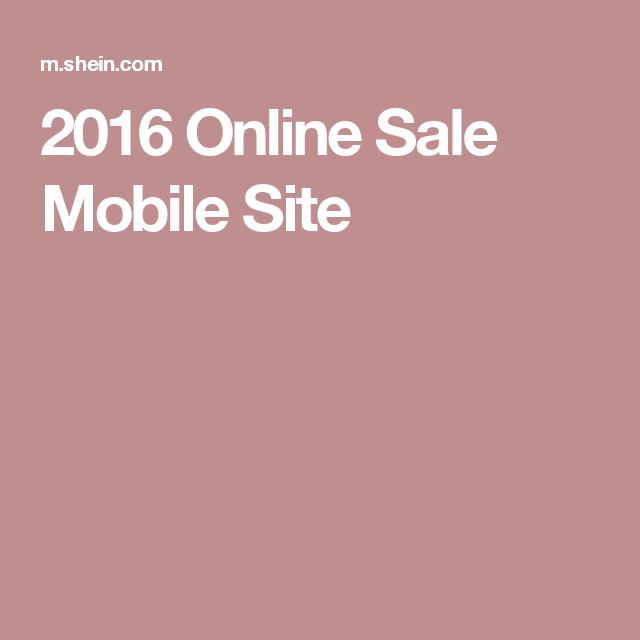 2016 Online Sale Mobile Site