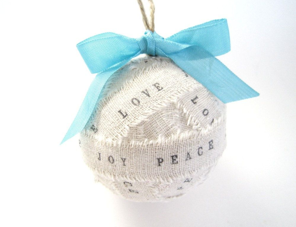 Personalized Rag Ball Ornaments Wedding Favors By TheLonelyHeart