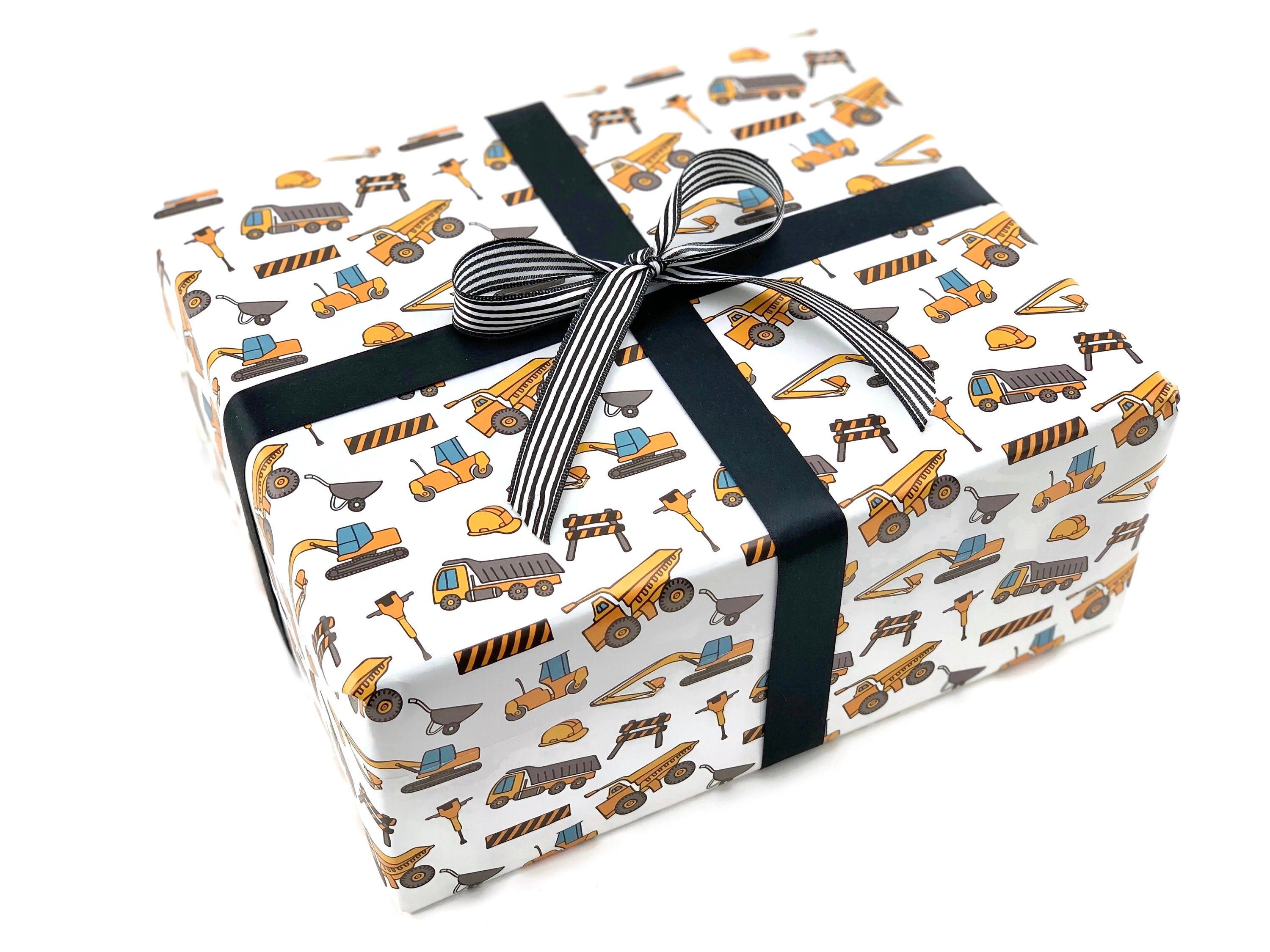 Construction wrapping paper kids christmas wrapping paper