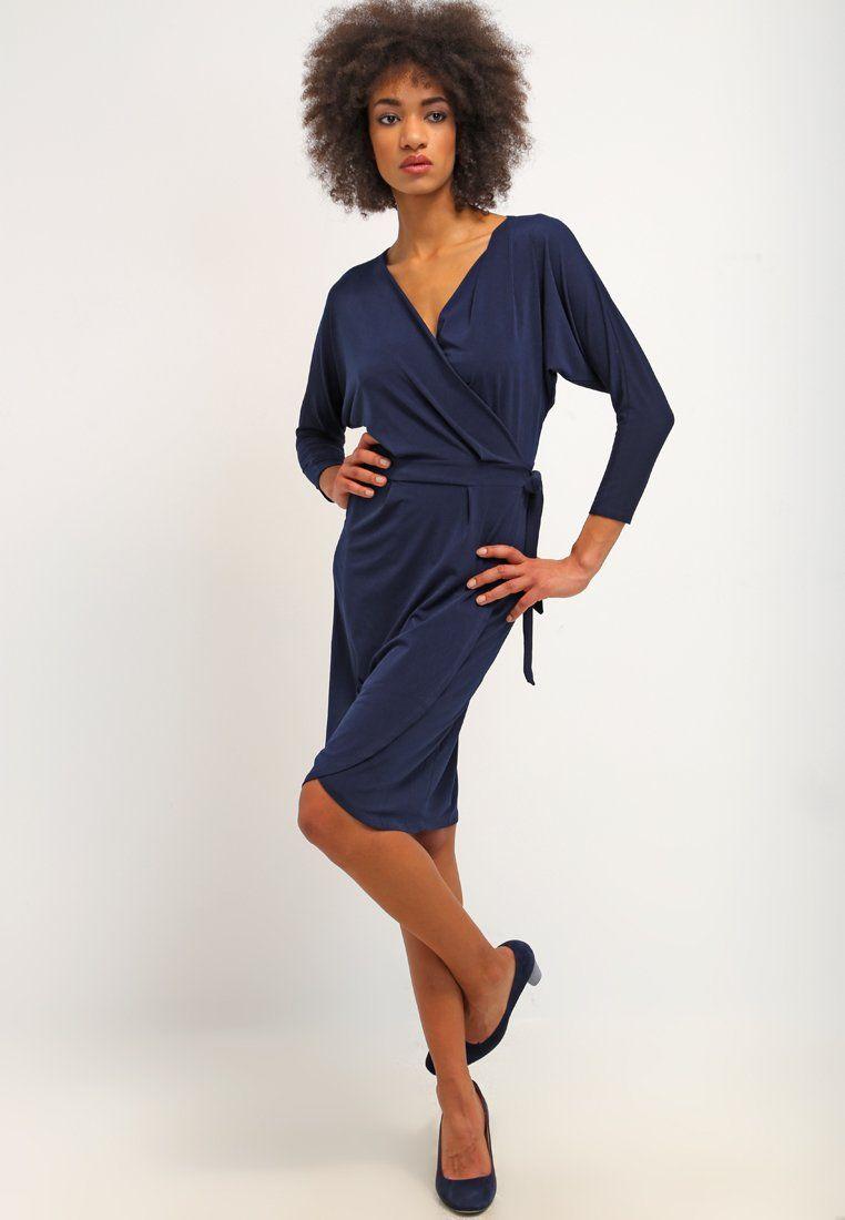 ¡Cómpralo ya!. WAL G. Vestido de algodón navy.  , vestidoinformal, casual, informales, informal, day, kleidcasual, vestidoinformal, robeinformelle, vestitoinformale, día. Vestido informal  de mujer color azul marino de Wal g..