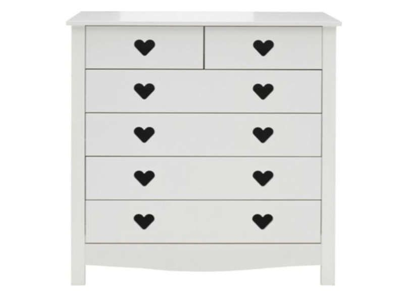 Commode 6 tiroirs | CHAMBRE ENFANT | Chest of drawers, White ...
