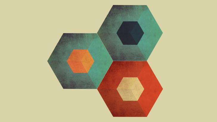 Hexágonos de colores wallpapers