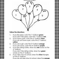 Following Directions Worksheets Worksheets for all | Download and ...