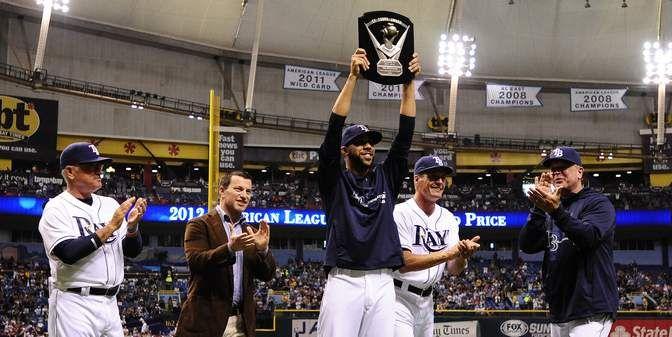 Rays Fans Cheer David Price American League Cy Young Award Winner Tampa Bay Rays Cy Young Award David Price