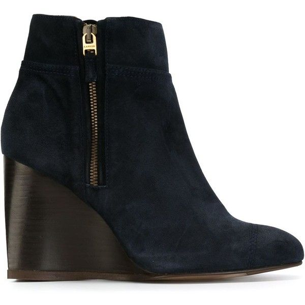af1ef35d8bc Lanvin wedge ankle boots (£405) ❤ liked on Polyvore featuring shoes ...