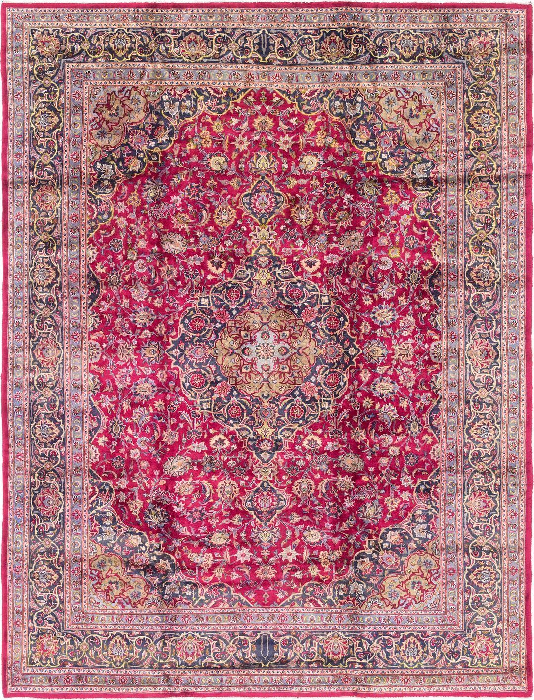 Magenta 9 7 X 12 6 Mashad Persian Rug Persian Rugs Esalerugs Persian Rug Rugs Carpet Runner