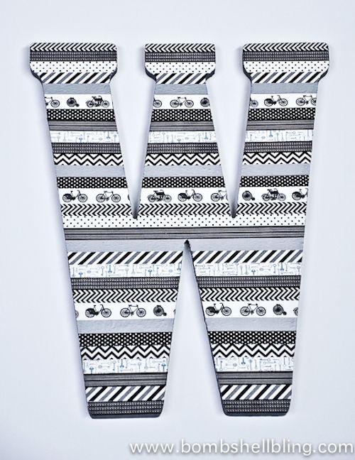 Washi Tape Wall Art 10 washi tape crafts | washi tape, washi and initials