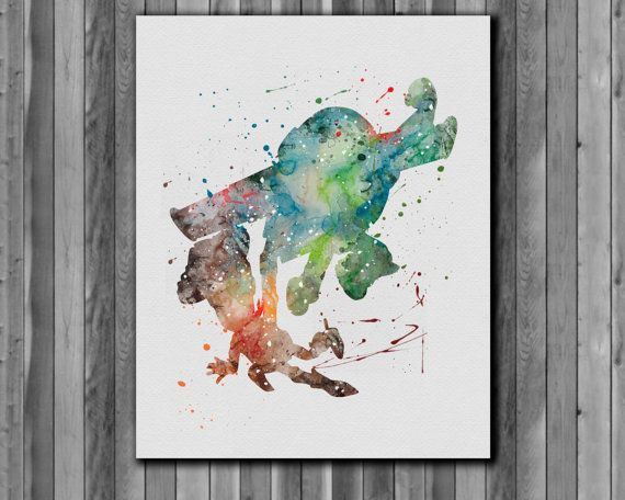 Buzz Woody Watercolor Print Instant Download Printable You Ll