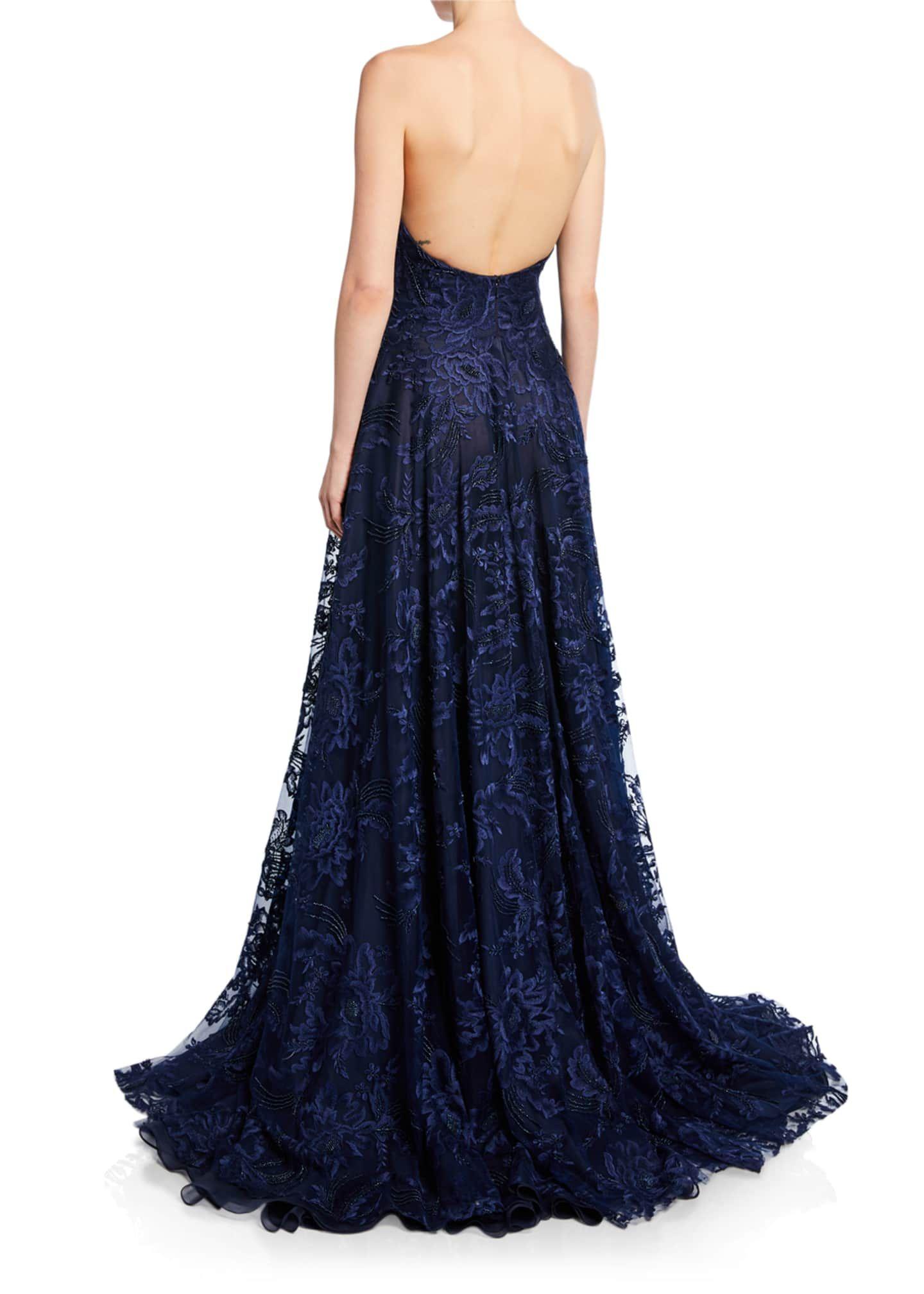 Naeem Khan Strapless Sweetheart Neck Gown Bergdorf Goodman Backless Dress Formal Gowns Ball Gowns [ 2016 x 1440 Pixel ]