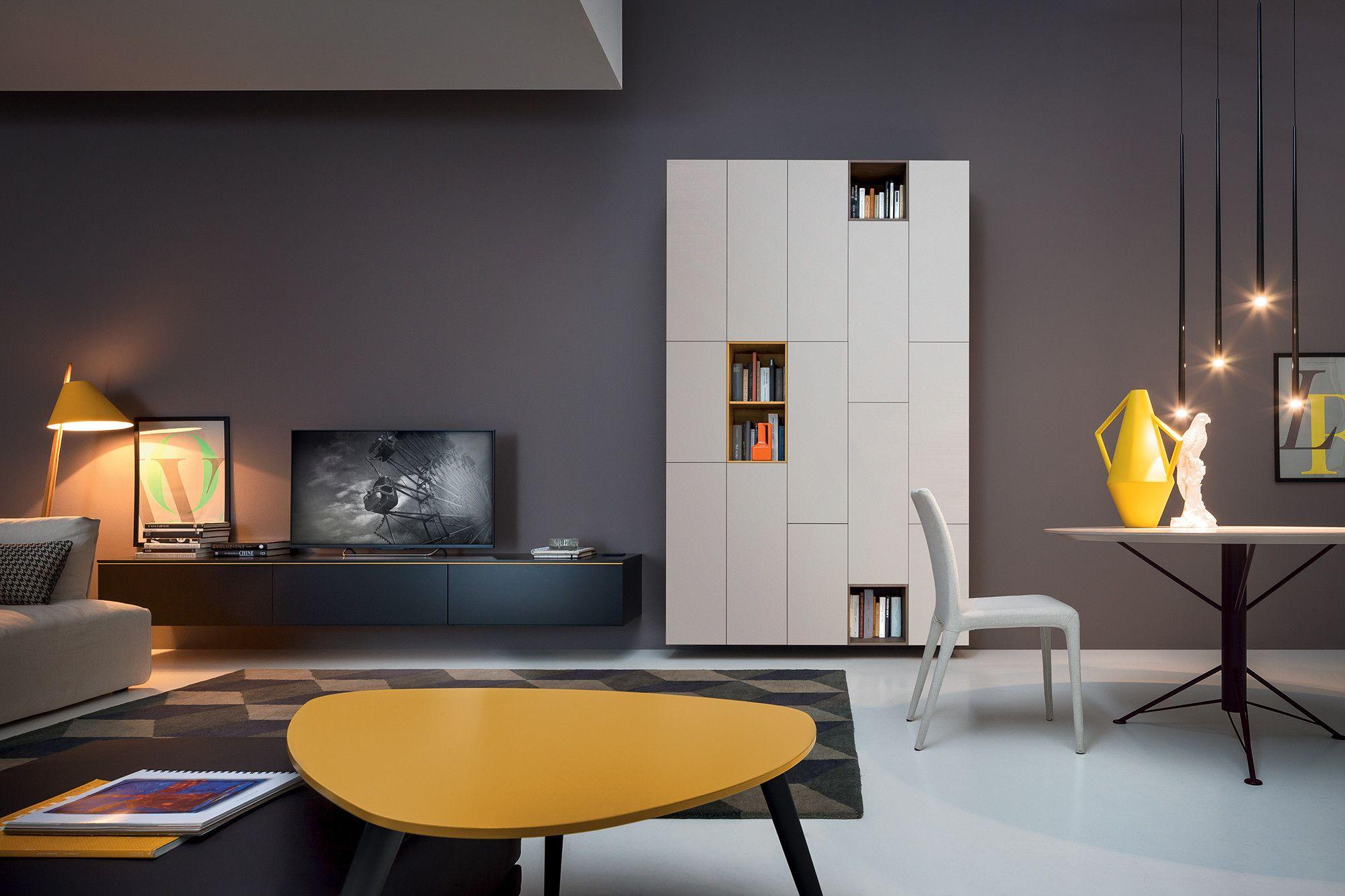 Box 12 contenitori prodotti novamobili day room living pinterest open shelving - Novamobili living ...