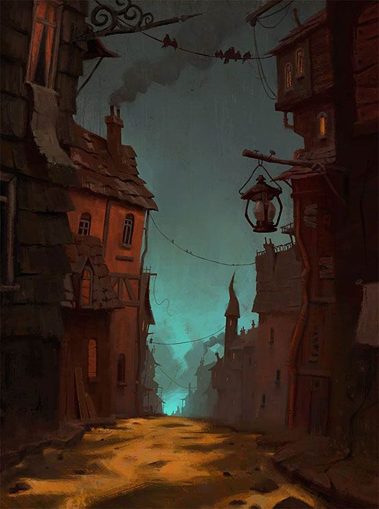 spooky town illustration art the design inspiration rh pinterest com