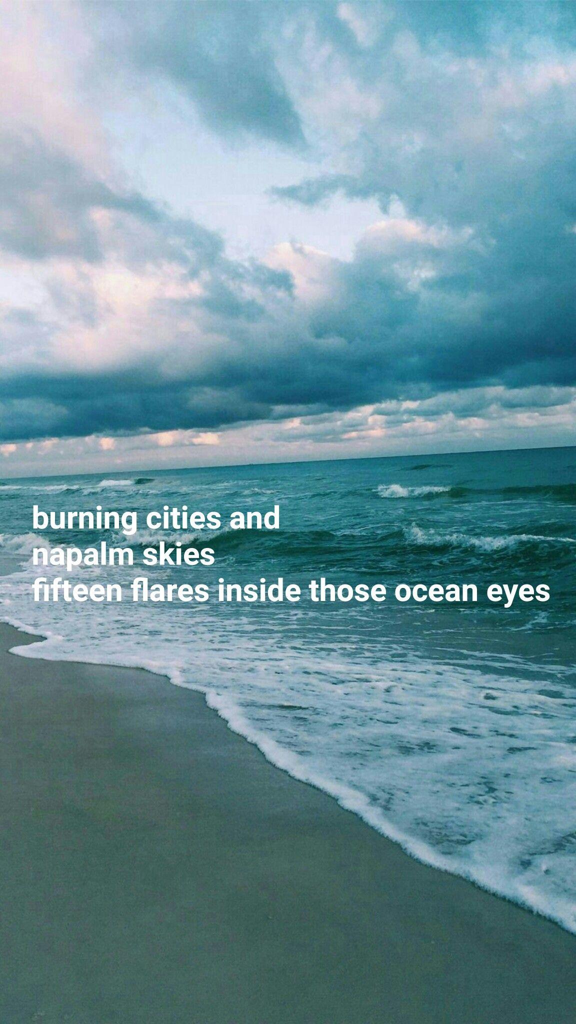 Billie Eilish Ocean Eyes Lyrics Wallpaper Aesthetic Iphone Android Ocean Eyes Lyrics Billie Eilish Ocean Eyes Lyrics Aesthetic
