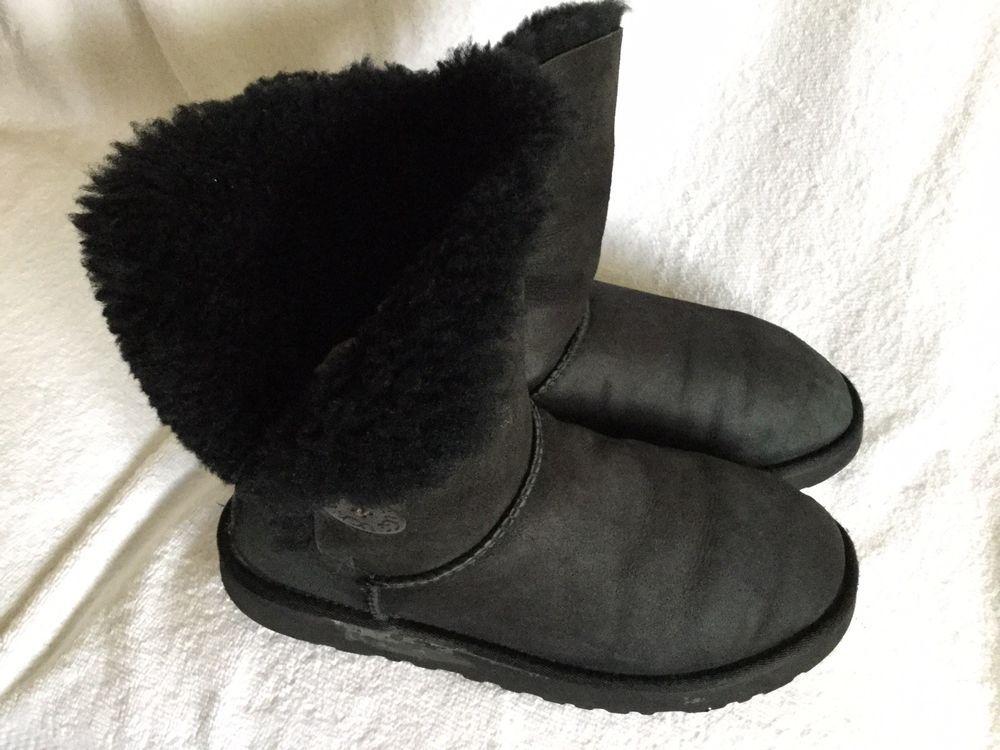 womens ugg australia black bailey button boots size 8 fashion rh pinterest com