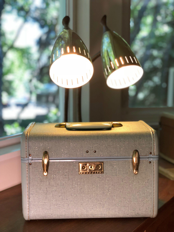 Vintage Train Case Samsonite  Mid Century Modern Luggage Beautiful