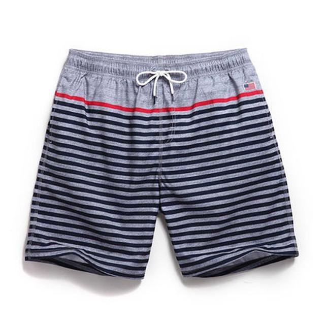 Striper Swim Trunks