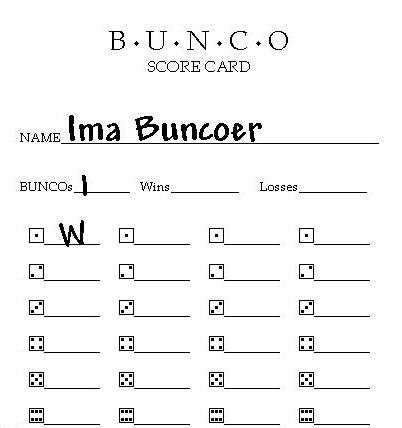 Free Printable Bunco Score Sheets  Murder Was The Case Lyrics