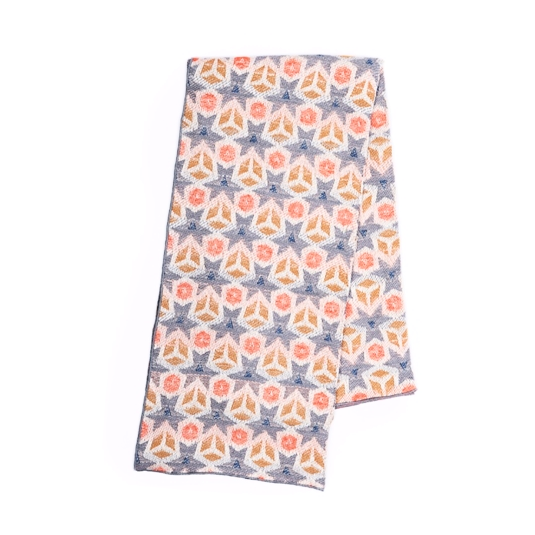 Anemone Tribe Peach Snugglers' Paradise Blanket