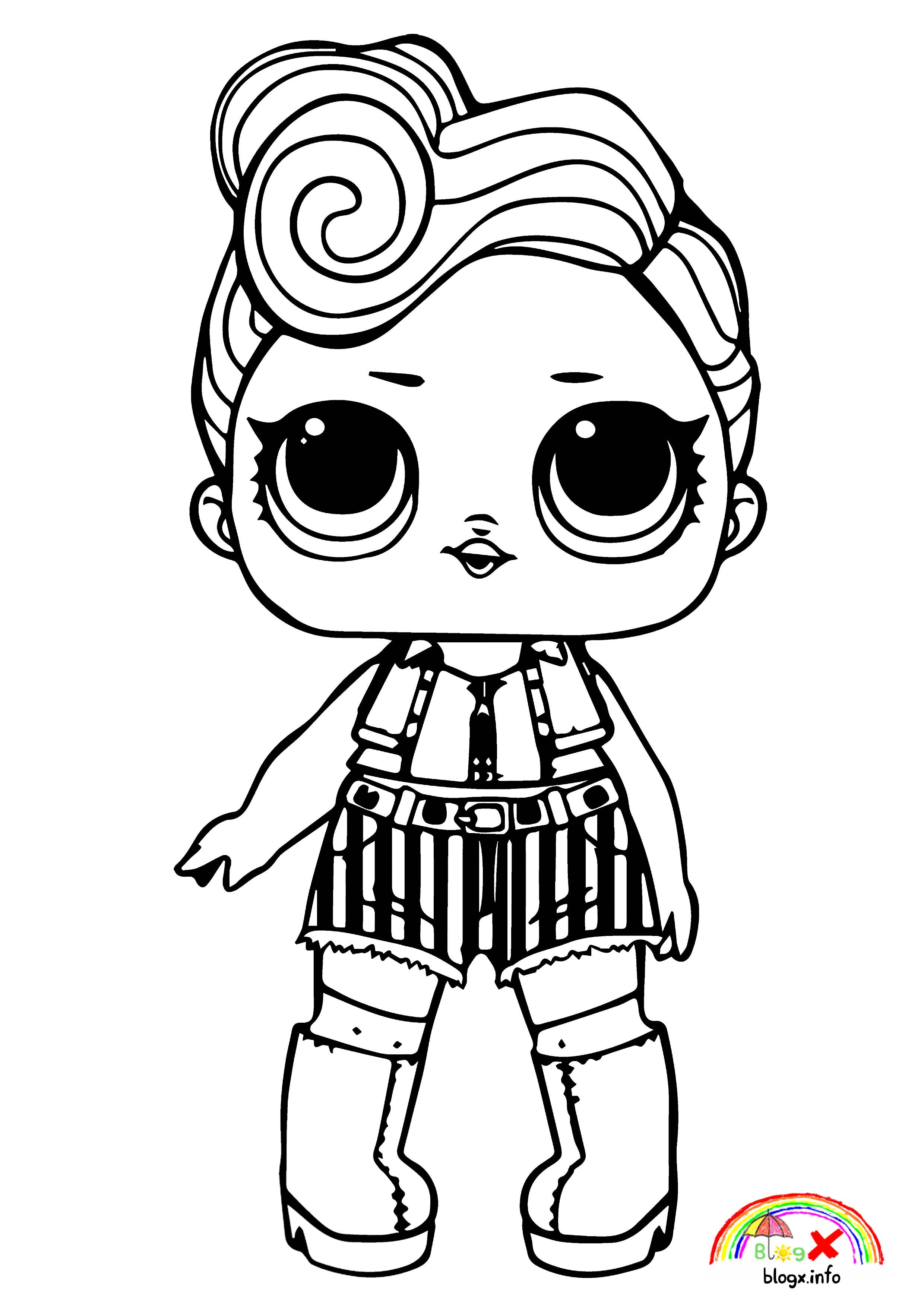 Simple Lol Costume Dolls Coloring Page Coloring Books Baby Coloring Pages Cartoon Coloring Pages