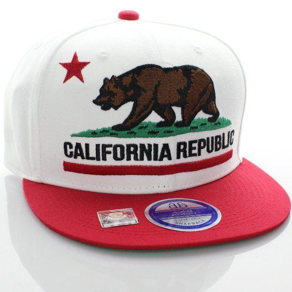 Teal California Republic hat Bear Snapback Mesh Trucker Flat bill Baseball cap