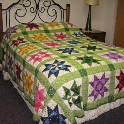 Crochet Quilt Afghan Pattern   Crocheted Crap   Pinterest   Decken ...