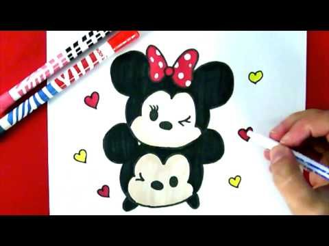 Comment dessiner minnie dessin facile youtube cute drawings pinterest drawings - Comment dessiner mickey ...
