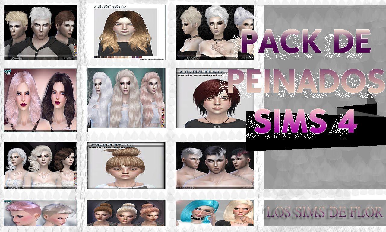 Fabuloso peinados los sims 4 Colección de estilo de color de pelo - PACK DE PEINADOS LOS SIMS 4 | Sims, Pelo sims, Sims 4