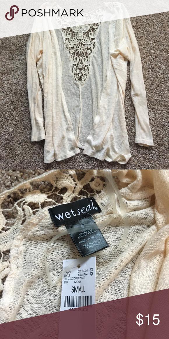 Crochet Cardigan Brand new Wet Seal Sweaters Cardigans