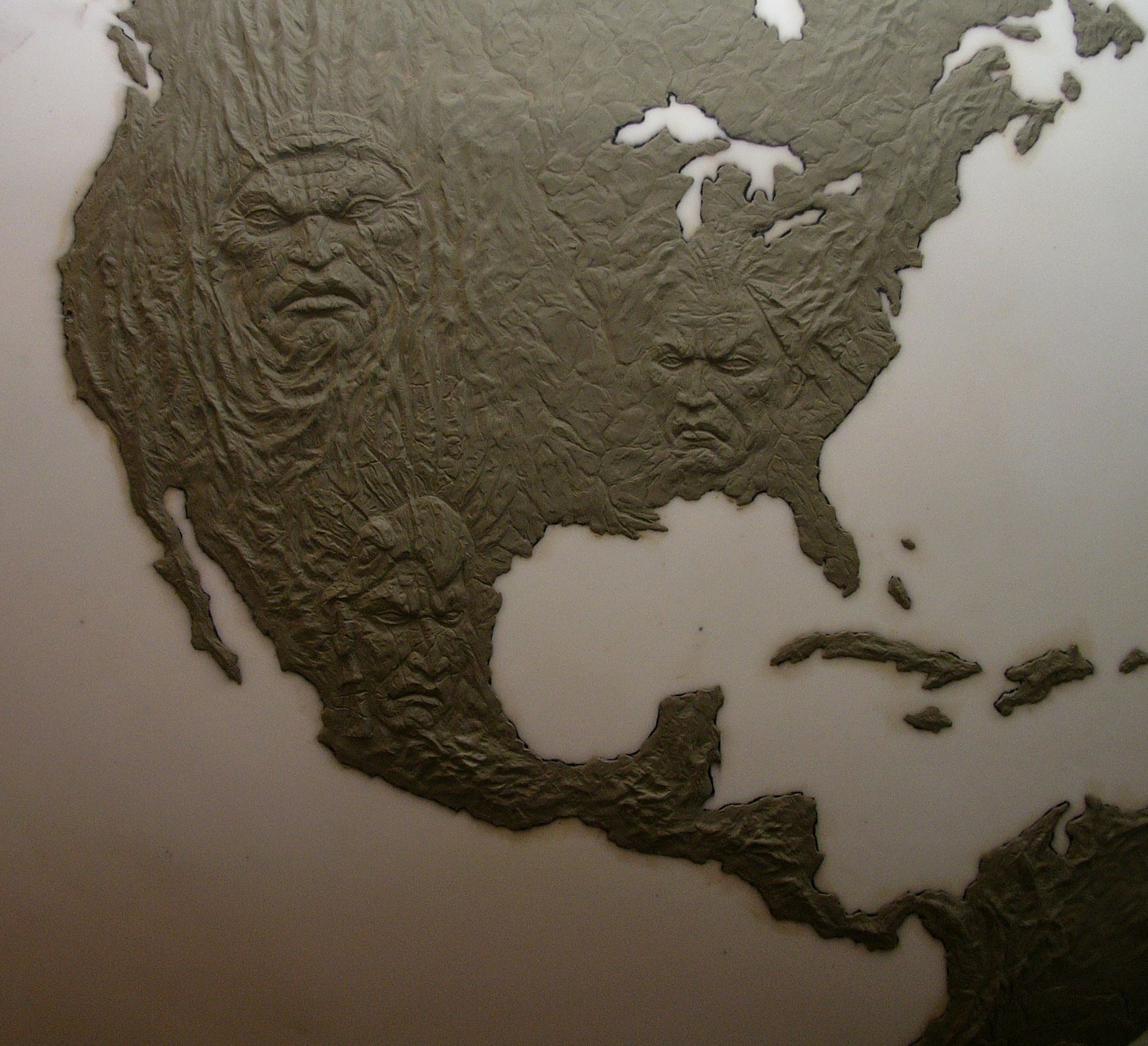 A Topographical Relief Map For Microsoft S Advertising Campaign
